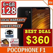 ★FREE Mystery Gift★ Xiaomi POCOPHONE F1 6+128GB/ Local warranty /Armour Edition/ Qoo10 Lowest Price