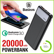 Baseus Original PowerBank Power Bank 20000mAh Quick Charge QC3.0 Portable Battery Charger