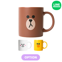 [LINE FRIENDS] LINE FRIENDS TWO-FACE MUG CUP