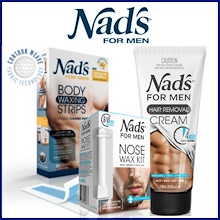【Nads】Hair Removal Body Wax Strips / Cream / Nose Wax for Men ★ New Stock ★