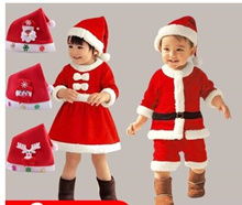 Santa Claus costume boy and girl Christmas clothes Christmas childrens clothing