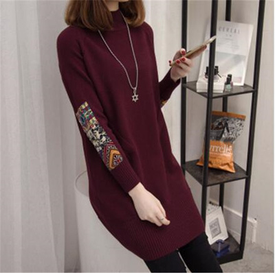 17ed738492c discount Women Cashmere Blended Knitted Long Sweater Women Tops 2017 Autumn  Winter Loose Female Pull
