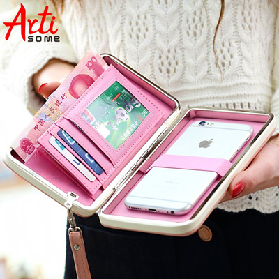 info for 24a70 87f24 Leather Wallet Case For iPhone 7 6 Plus 5S Phone Bag Case Women Wallet  Purse Card Holder Universal