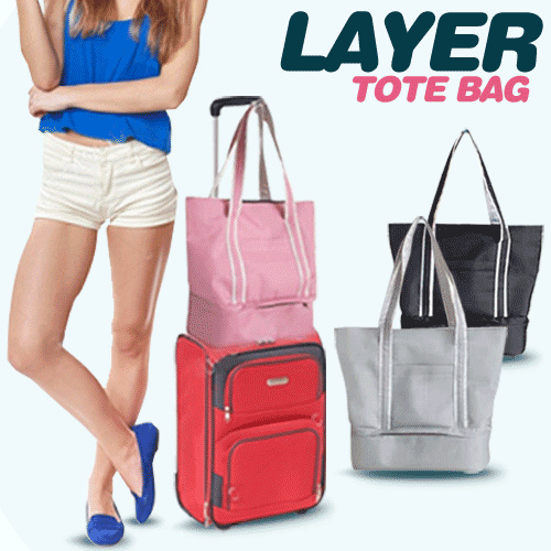 *NEW ARRIVAL* LAYER TOTE BAG!! TRAVEL CABIN TOTE BAG!SEPARATED SPACE TRAVEL TOTE BAG Deals for only Rp59.000 instead of Rp101.724