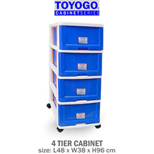 Toyogo [4 Tier] Plastic Storage Cabinet / Drawer With Wheels [903-4]