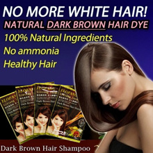 [3K reviews FREE SHIPPING] KOREA FORMULATION NO.1 - YLOFANG DARK BROWN HAIR DYE SHAMPOO ginseng