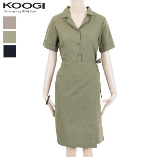 釘宮リンネンカラバンパルレプワンピースKK3OP304A 綿ワンピース/ 韓国ファッション