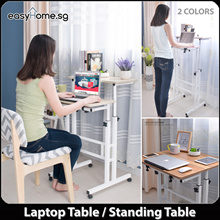 101-1 Movable Computer Laptop Table/ Standing Computer Desk / Height Adjustable / Study office