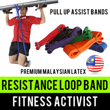 ⏰💪★★Premium Malaysian Latex★★Resistance Loop Bands★★Pull/Chin up Assist★★Power Weighting★★