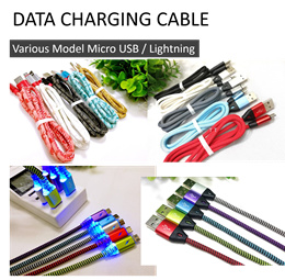 Various USB Cable Lightning Micro / Lighting / Type C Fast Charge 2.4A