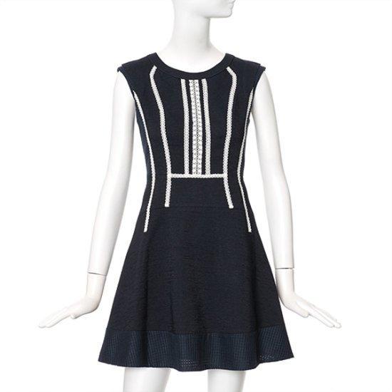 ラインスリム配色ワンピースNWOPFE17 面ワンピース/ 韓国ファッション