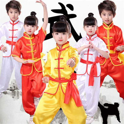 authentic Chinese Kung Fu Traditional Wushu Clothing for Boys Girls Tai Chi  Uniform 2019 New Kids Ch