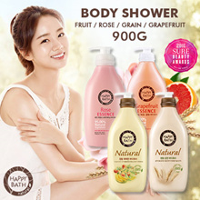 Happy Bath Natural Grain/Fruits/Rose Essence/Grapefruit Body Shower 900g