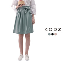 KODZ - Bow Detail Paperbag Skirt-180101