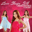 Love Shape Silk Lingerie Nightdress with 4 Colours Y9933