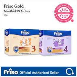 [FRISO] Gold 3/4 1.8kg Sachet box (10s) | Made in Netherlands for SG | Official Friso