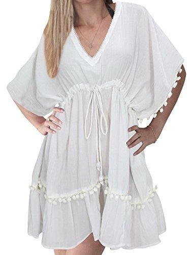 1a2cc9395a1ae Qoo10 - la leela beach cover ups dresses plus swimsuit blouse caftan bikini  bathing resortwear kaftan gifts tops tunic chiffon sheer plain with border  ...