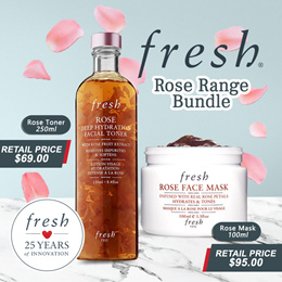 FRESH Rose Mask 100ml + Rose Toner 250ml