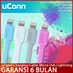 [100% ORIGINAL]No.1 uConn Charging Cable/ 2.1A Xiaomi iPhone Samsung Galaxy Xiaomi HTC Sony Powerbank iphone 6 S6 GARANSI 6BULAN Micro Usb  Lightning Cable !!