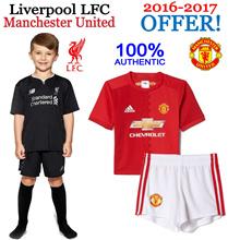 Adidas Manchester United and NewBalance Liverpool LFC KIDS SOCCER KITS 2016-2017