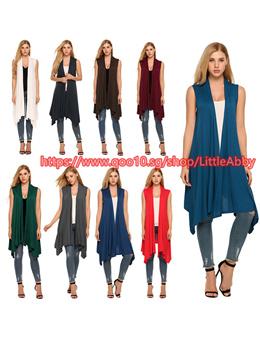 Women Vest Spring Plus Size Open Stich Coat Jacket Vest Jackets Irregular Sleeveless Knit Bat Shirt