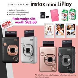 instax mini LiPlay * 1 Year Warranty *Free Gift redeem at Fuji Studio till 17th May
