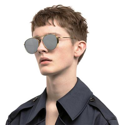 Brand Designer Men Or Women Oversized Sunglasses Flat Top twin-bridge  Luxury Women Cool Point 28f519221d