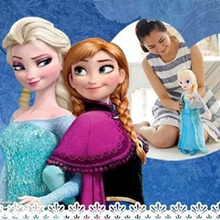 50cm Frozen Elsa Anna Doll Ice Olaf Snow Man Baymax Peppa Pig Family Soft toy Plush Gift Set