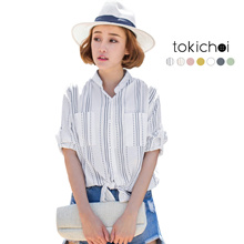 TOKICHOI - Tie Knot Front Pocket Shirt-180380