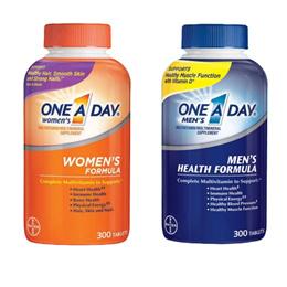 ★최저가★미국 원어데이 성인 여성용 남성용 멀티비타민 300정 One A Day Womens Multivitamin 300 Tablets/종합비타민