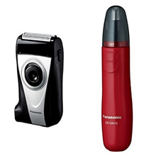 Panasonic Men's Shaver 2 Silver Silver Set ES-RP30-S + Etiquette Cutter Red ER-GN10-R Set