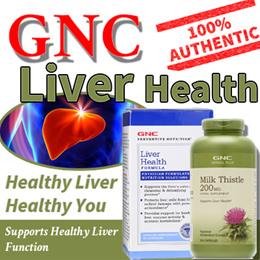 [8off50]GNC Liver Health Formula/ Milk Thistle 200mg 300Caps/extra strength1300mg 60C