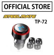 [Make $63]Steelmate TPMS TP-72 External Sensor Car Tire Pressure Monitoring System