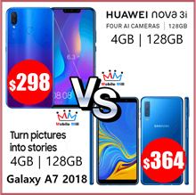 Huawei Nova 3i 4GB RAM / 128GB ROM | Galaxy A7 2018 4GB RAM / 128GB ROM | SG Local Warranty