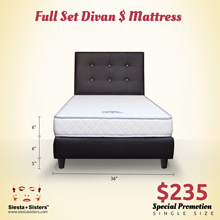 Foam Mattress with Divan Bed Frame | Single Super Single and Queen