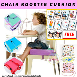 [FREE GIFT + SALE] * Chair Booster Cushion * Dining Pad Cover* Kids* portable* Booster seat