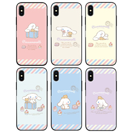 CINNAMOROLL DOOR BUMPER MIRROR CARD CASE FOR IPHONE XS MAX XR X 8 7 6 6S PLUS SMART MOBILE PHONE