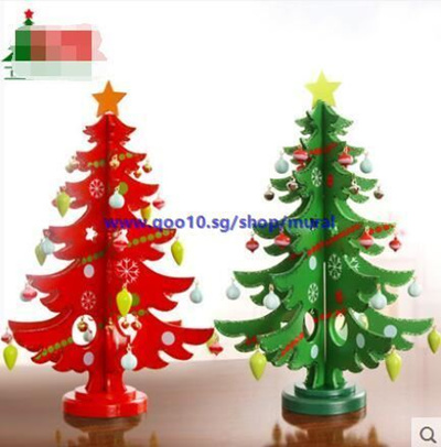 Christmas Decorations Christmas Gifts Santa Claus Decoration Wood Mini Christmas Tree Desktop Decora