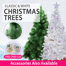2018 * One Stop White Christmas Tree and Accessories | 5ft | 6ft |
