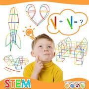 Educational toys creative 4D straws assembling building blocks kindergarten children early education diy