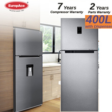 *12.12 Special (SAVE $500) * EUROPACE 400L 2 DOOR TOP MOUNT FRIDGE w DISPENSER - ER 3372T