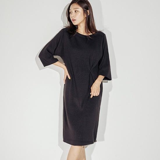 メグジェイMAGJAYボトゥネクワンピースJ92POP027 面ワンピース/ 韓国ファッション