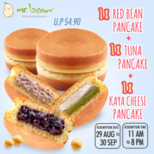 Mr Bean Promotion - 1 x Red Bean Pancake + 1 x Tuna Pancake + 1 x Kaya Cheese Pancake (UP $4.90)