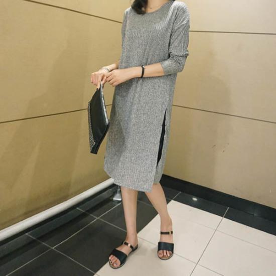 モニカルームゴルジ開けたことロングM プリントのワンピース/ 韓国ファッション