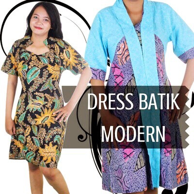 New Update Dress Batik Blouse Modern Cahya