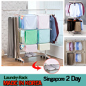 MADE IN KOREA 300pcs Laundry Drying Rack  English Manual Stainles steel.singapore delivery 2days.