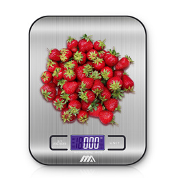 Compact Digital Kitchen Food Weighing Scale 5kg 11lbs / LCD Digital Scale / Ideal for Baking Cooking