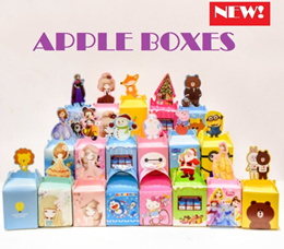 Apple gift box cute cookies candy gift apple box packaging birthday gifts paper gift bag