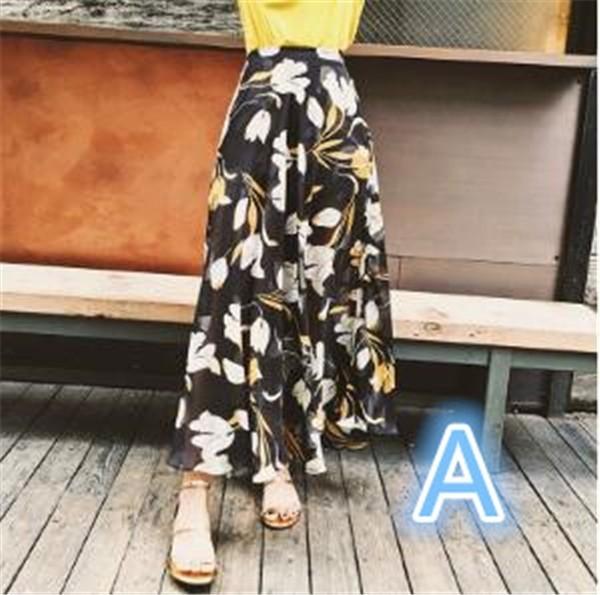 レディーススカート ビーチロングスカート プリント カジュアル ファッション ハイセンス 着心地いい おしゃれ 夏 レディーススカート