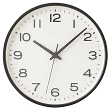 Plain unmanned analog large wall clock large white 159115163 / black 15915170